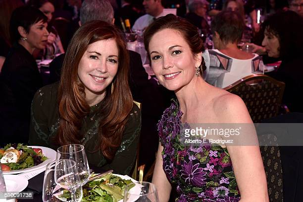Actresses Dana Delany and Diane Lane attend the 2016 Writers Guild Awards at the Hyatt Regency Century Plaza on February 13 2016 in Los Angeles...