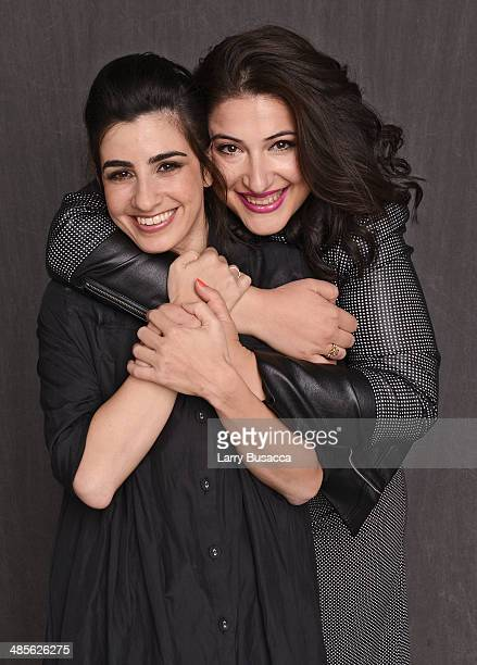 Actresses Dana Ivgy and Shani Klein from 'Zero Motivation' pose for the 2014 Tribeca Film Festival Getty Images Studio on April 19 2014 in New York...
