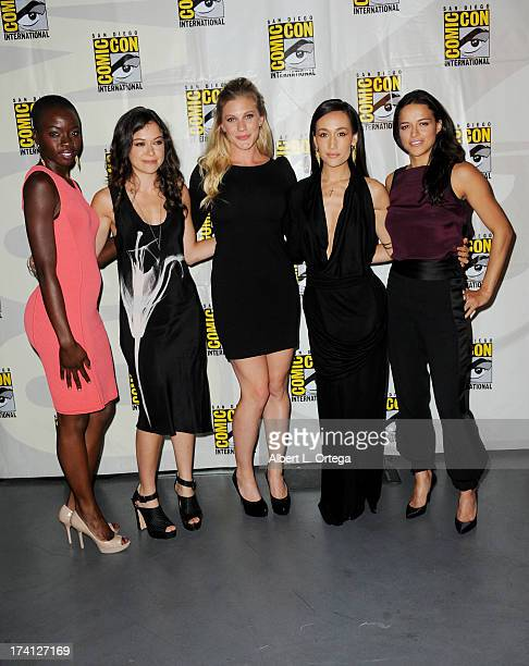 """Actresses Danai Gurira, Tatiana Maslany, Katee Sackhoff, Maggie Q and Michelle Rodriguez appear at Entertainment Weekly's """"Women Who Kick Ass"""" during..."""