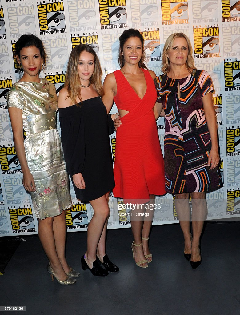 Actresses Danay García, Alycia Debnam Carey, Mercedes Masohn, and Kim Dickens attend AMC's 'Fear The Walking Dead' Panel during Comic-Con International 2016 at San Diego Convention Center on July 22, 2016 in San Diego, California.