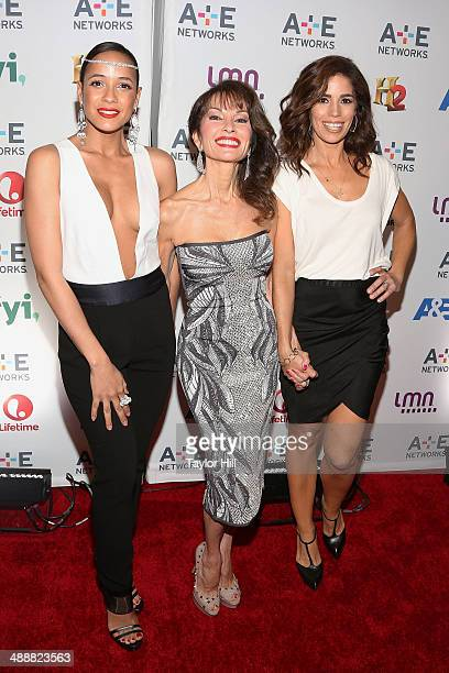 """Actresses Dania Ramirez, Susan Lucci, and Ana Ortiz of """"Devious Maids"""" attend the 2014 A+E Networks Upfronts at Park Avenue Armory on May 8, 2014 in..."""
