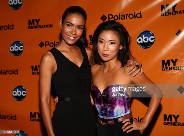 Actresses Daniella Alonso and Anne Son on the red carpet for the premeir of the new television series 'My Generation' at Alamo Drafthouse on...