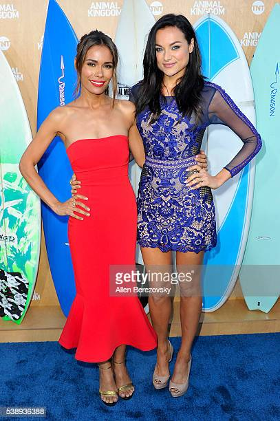 Actresses Daniella Alonso and Christina Ochoa attend the premiere of TNT's Animal Kingdom at The Rose Room on June 8 2016 in Venice California