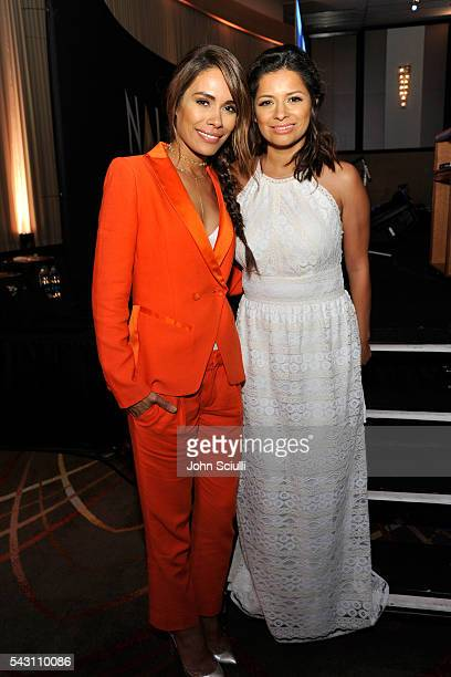 Actresses Daniella Alonso and Kristina Guerrero attend the NALIP 2016 Latino Media Awards at Dolby Theatre on June 25 2016 in Hollywood California