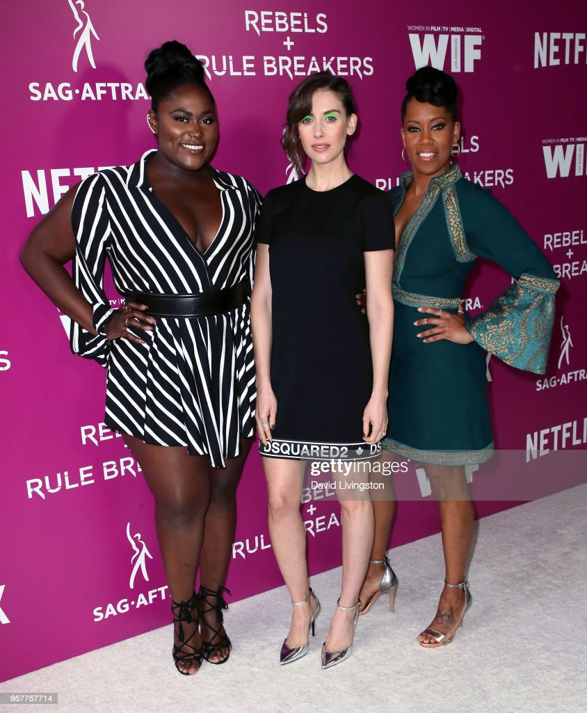 Actresses Danielle Brooks, Alison Brie and Regina King attend Netflix - Rebels and Rules Breakers For Your Consideration event at Netflix FYSee Space on May 12, 2018 in Los Angeles, California.