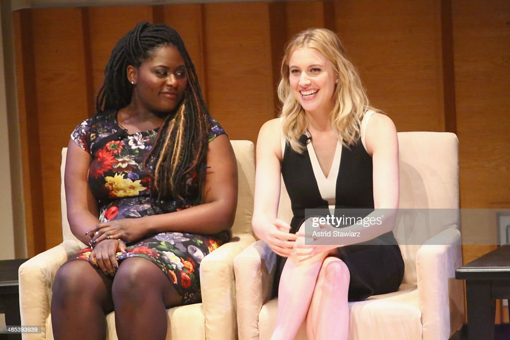 Actresses Danielle Brooks and Greta Gerwig participate participate in a panel discussion during Glamour And L'Oreal Paris 2014 Top Ten College Women Celebration at Kaufman Music Center on April 17, 2014 in New York City.
