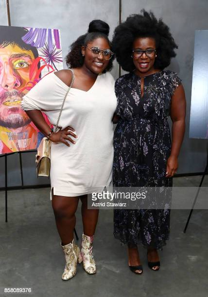 Actresses Danielle Brooks and Uzo Aduba attend Brad Walsh 'Antiglot' performance and album release party at Pier 59 Studios on October 5 2017 in New...