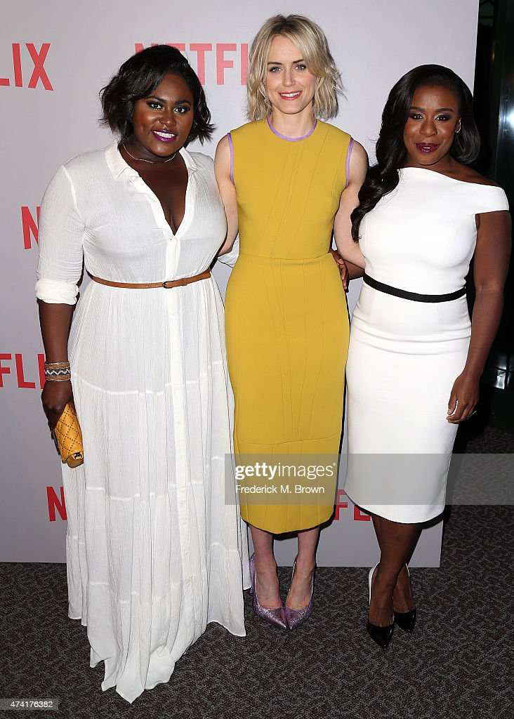 Actresses Danielle Brooks, Taylor Schilling, and Uzo Aduba attend Netflix's 'Orange Is The New Black' For Your Consideration Screening and Q & A at the Directors Guild Of America on May 20, 2015 in Los Angeles, California.