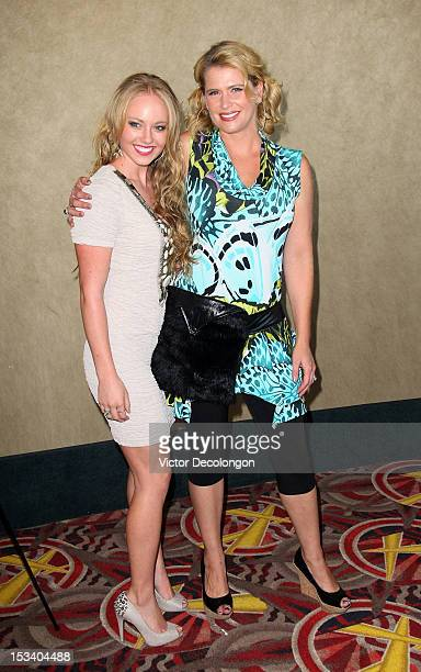 Actresses Danielle Chuchran and Kristy Swanson arrive for the sneak preview of 12 Dogs Of Christmas Great Puppy Rescue on October 4 2012 in Los...