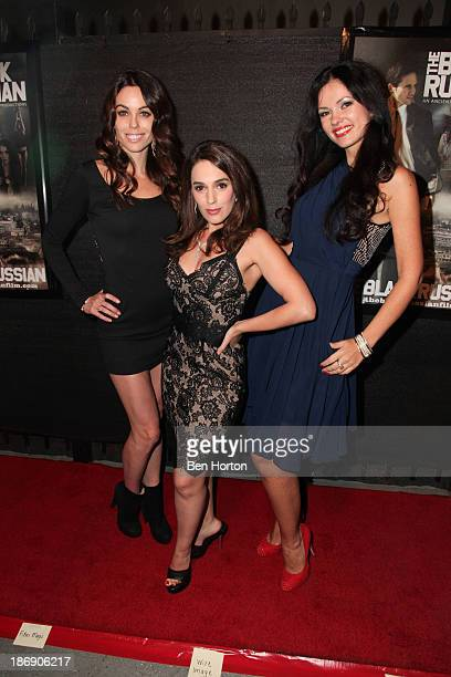 """Actresses Danielle DiLorenzo, Christina DeRosa and Natasha Blasick attend the """"Black Russian"""" Filmmakers VIP Reception and special screening at Arena..."""