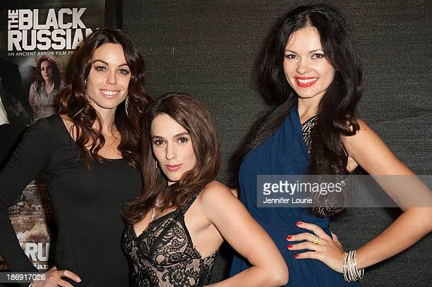 Actresses Danielle DiLorenzo Christina DeRosa and Natasha Blasick attend the first screening and VIP Reception of the Black Russian at Arena Cinema...
