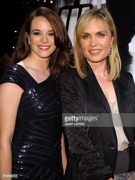 """Actresses Danielle Panabaker and Radha Mitchell attend a special screening of """"The Crazies"""" at the Vista Theatre on February 23, 2010 in Los Angeles,..."""