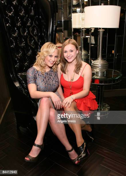 Actresses Danielle Savre and Skye McCole Bartusiak attend the 'American Primitive' reception held at the Riviera on January 10 2009 in Palm Springs...