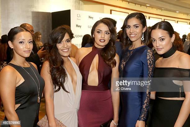 Actresses Danielle Vega Alicia Sixtos Vannessa Vasquez guest and Alexandra Rodriguez attend The Los Angeles Times and Hoy 2015 Latinos de Hoy Awards...
