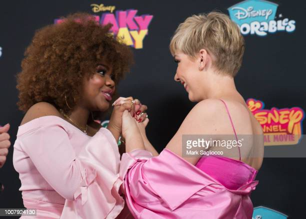 Actresses Dara Renee and Cozi Zuehlsdorff attend the Freaky Friday New York Premiere at The Beacon Theatre on July 30 2018 in New York City