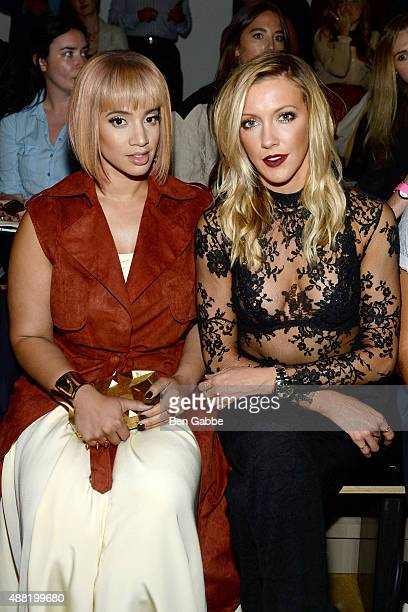 Actresses Dascha Polanco and Katie Cassidy attend the Houghton Fashion Show during Spring 2016 MADE Fashion Week at Milk Studios on September 14 2015...