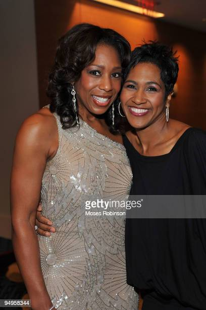 Actresses Dawn Lewis and Terri J Vaughn attend the 26th anniversary UNCF Mayor's Masked Ball at Atlanta Marriot Marquis on December 19 2009 in...
