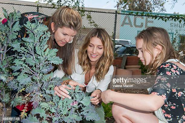 Actresses Dawn Olivieri and Johnny Sequoyah attend The Environmental Media Association's 5th Annual LA School Garden Program Luncheon at Westminster...
