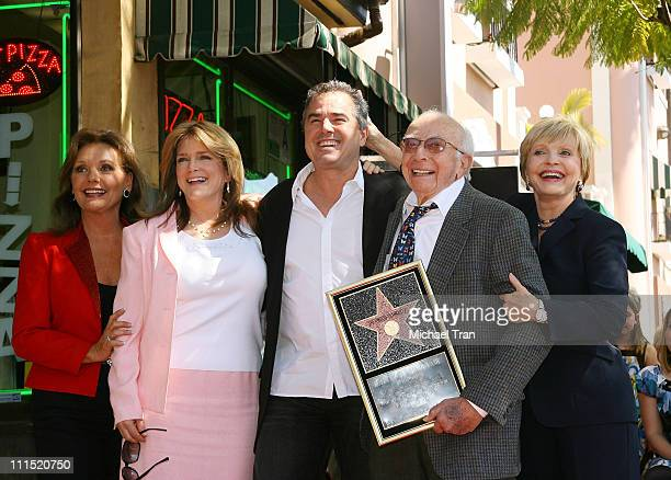 Actresses Dawn Wells Susan Olsen actor Christopher Knight writer/producer Sherwood Schwartz and actress Florence Henderson attend the Star on...