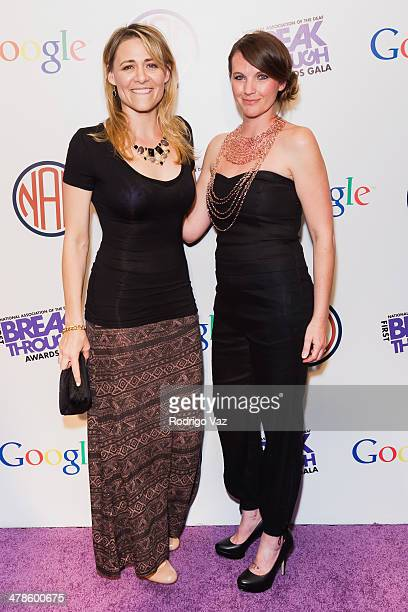 Actresses Deanne BrayKotsur and Amber Zion attend the 2014 NAD Breakthrough Awards Gala presented by the National Association For the Deaf at...