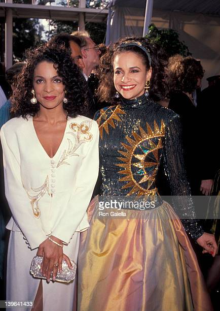 Actresses Debbie Allen and Jasmine Guy attending 63rd Annual Academy Awards on March 25 1991 at the Shrine Auditorium in Los Angeles California