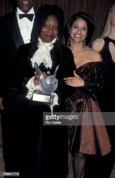 Actresses Debbie Allen and Whoopi Goldberg attending Sheba Humanitarian Awards Honoring Whoopi Goldberg on January 22 1995 at the Beverly Wilshire...