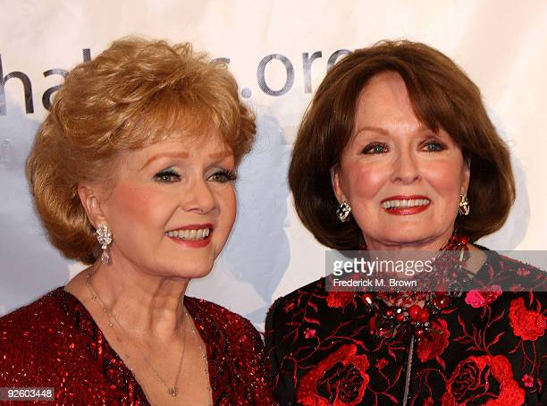 Actresses Debbie Reynolds and Ann Blyth attend the 54th annual Thalians Ball at the Beverly Hilton Hotel on November 1 2009 in Beverly Hills...