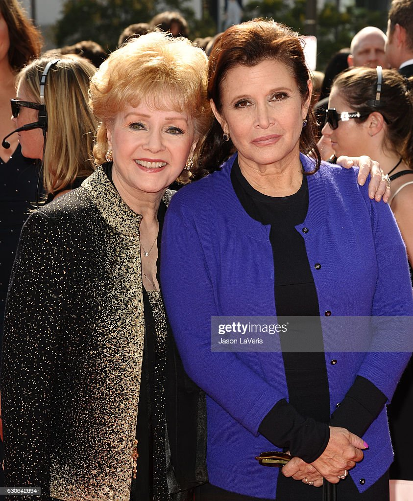 Actresses Debbie Reynolds and Carrie Fisher attend the 2011 Creative Arts Emmy Awards at Nokia Theatre L.A. Live on September 10, 2011 in Los Angeles, California.