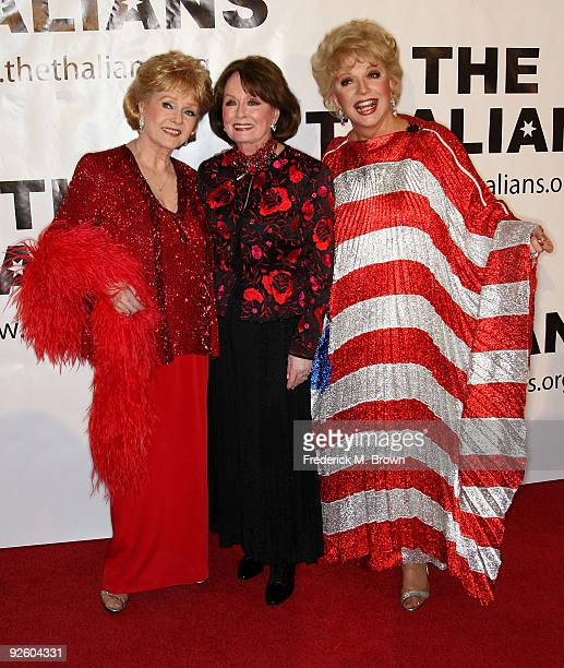 Actresses Debbie Reynolds Ann Blyth and Ruta Lee attend the 54th annual Thalians Ball at the Beverly Hilton Hotel on November 1 2009 in Beverly Hills...