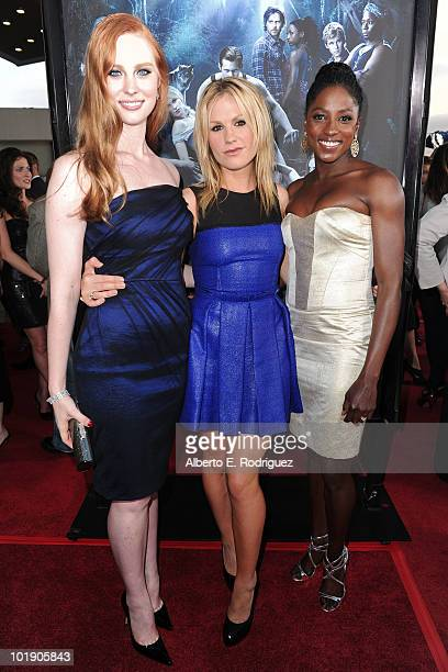 Actresses Deborah Ann Woll Anna Paquin and Rutina Wesley arrive at HBO's True Blood Season 3 premiere held at ArcLight Cinemas Cinerama Dome on June...