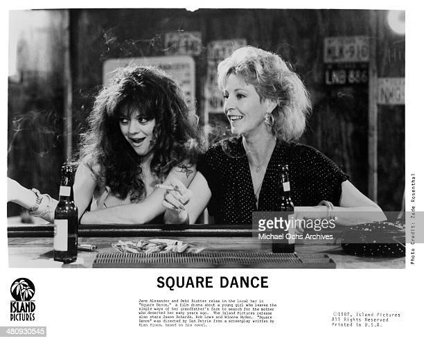 Actresses Deborah Richter and Jane Alexander in a scene from the movie Square Dance circa 1987