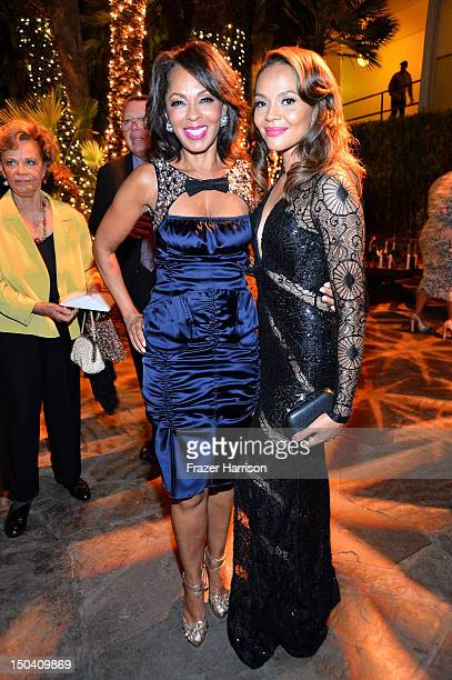 Actresses Debra Martin Chase and Carmen Ejogo attend after party for the TriStar Pictures' Sparkle premiere at The Roosevelt Hotel on August 16 2012...