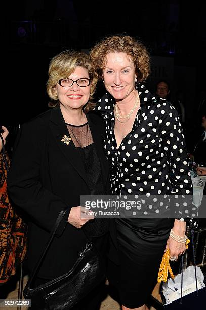 Actresses Debra Monk and Lisa Banes attend The 2009 Emery Awards and 30th Anniversary of the HetrickMartin Institute at Cipriani Wall Street on...