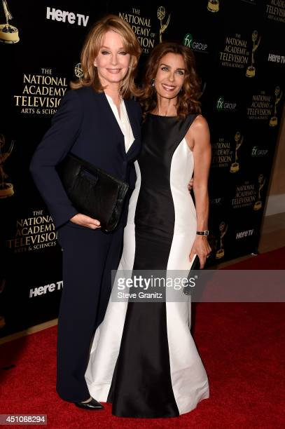 Actresses Deidre Hall and Kristian Alfonso attend The 41st Annual Daytime Emmy Awards at The Beverly Hilton Hotel on June 22 2014 in Beverly Hills...