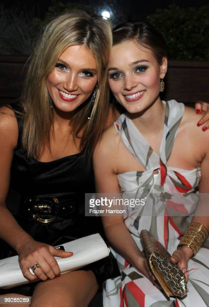 Actresses Delta Goodrem and Bella Heathcote attend Australians In Film's 2010 Breakthrough Awards held at Thompson Beverly Hills on May 13 2010 in...