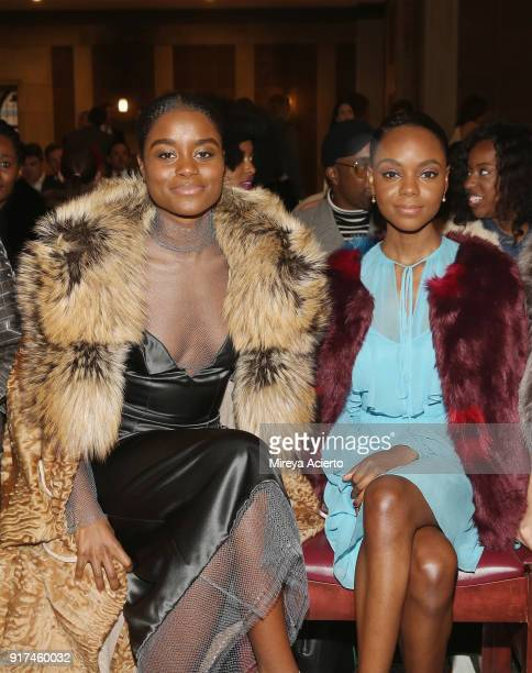 Actresses Denee Benton and Ashleigh Murray attend the Dennis Basso fashion show at St Bartholomew's Church on February 12 2018 in New York City