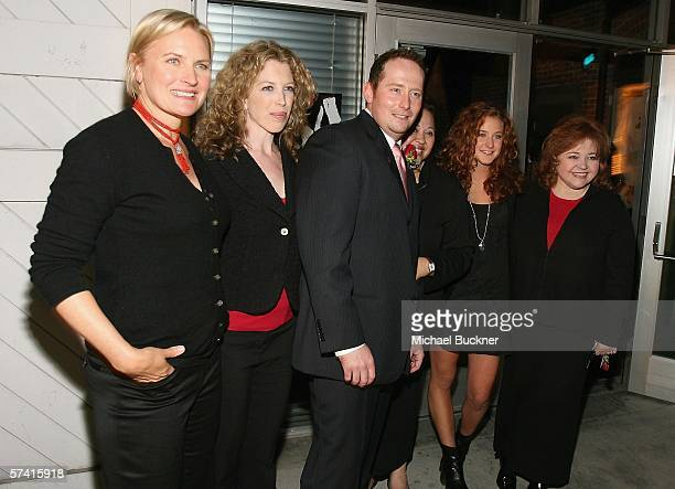 Actresses Denise Crosby Deanna Raphael director Harold Cronk Amy Hill Hallee Hirsh and Patrika Darbo attend the VDAY West LA 2006 cocktail reception...