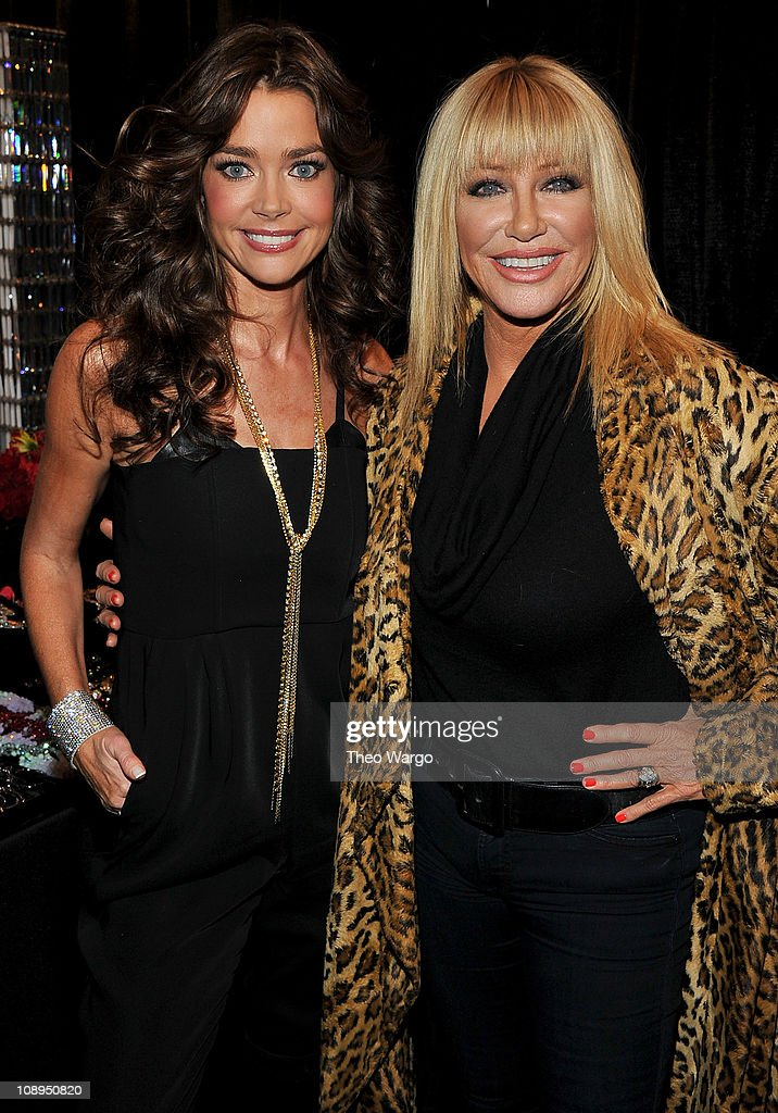 Actresses Denise Richards and Suzanne Somers attend the Heart Truth's Red Dress Collection 2011 during Mecerdes-Benz fashion week at The Theatre at Lincoln Center on February 9, 2011 in New York City.