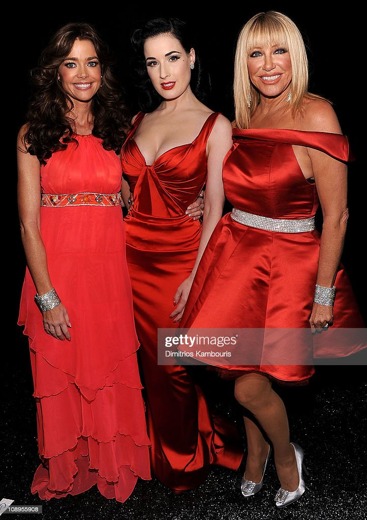 Actresses Denise Richards, Dita Von Teese and Suzanne Somers attend the Heart Truth's Red Dress Collection 2011 during Mecerdes-Benz fashion week at The Theatre at Lincoln Center on February 9, 2011 in New York City.