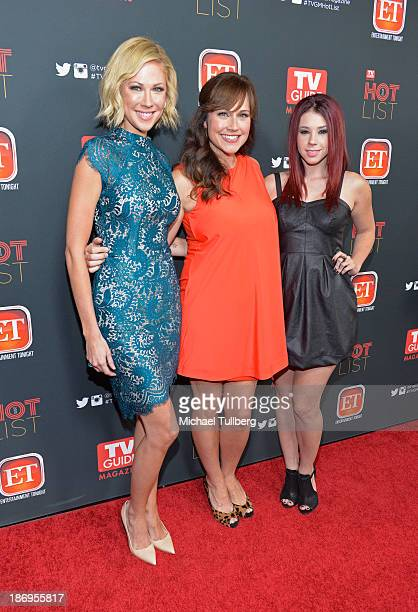 Actresses Desi Lydic Nikki DeLoach and Jillian Rose Reed attend TV Guide Magazine's Annual Hot List Party at The Emerson Theatre on November 4 2013...
