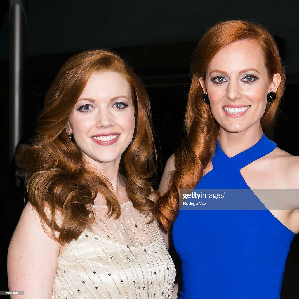 Actresses Desiree Hall (L) and Samantha Colburn attend the 'Best Night Ever' Los Angeles premiere at ArcLight Cinemas on January 29, 2014 in Hollywood, California.