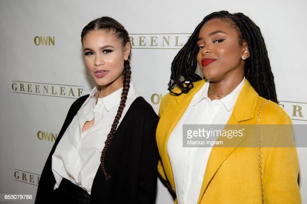 Actresses Desiree Ross and Lovie Simone attend Greenleaf season 2 premiere Atlanta screening at SCADshow on March 13 2017 in Atlanta Georgia