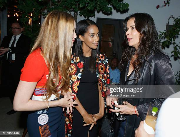 Actresses Devon Aoki Azie Tesfai and Patricia Velasquez attend Russell Simmons' Rush Philanthropic Arts Foundation's inaugural Art For Life Los...