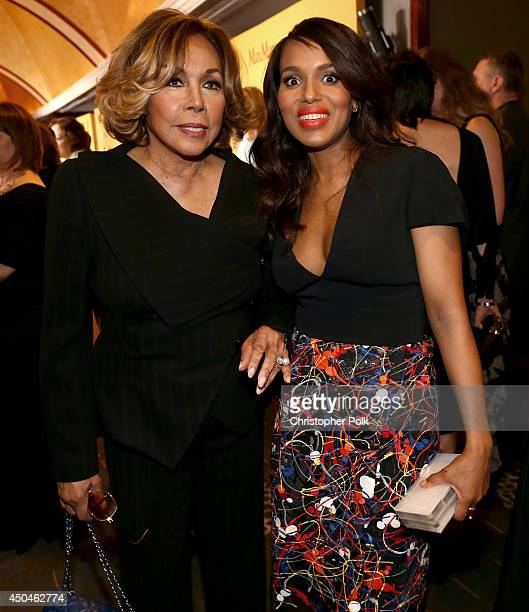 Actresses Diahann Carroll and Kerry Washington attend Women In Film 2014 Crystal Lucy Awards presented by MaxMara BMW PerrierJouet and South Coast...