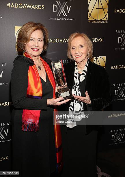 Actresses Diane Baker and Eva Marie Saint attend the Art Directors Guild 20th Annual Excellence In Production Awards at The Beverly Hilton Hotel on...