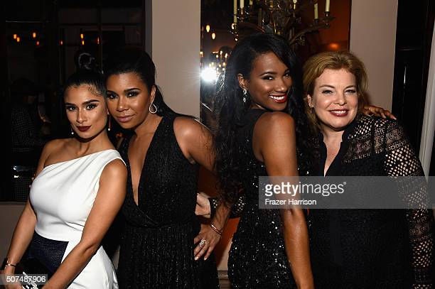 Actresses Diane Guerrero Jessica Pimentel Vicky Jeudy and Catherine Curtin attend Entertainment Weekly Celebration Honoring The Screen Actors Guild...
