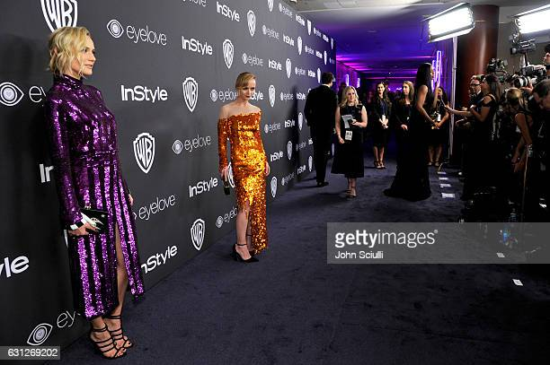 Actresses Diane Kruger and Christina Ricci attend The 2017 InStyle and Warner Bros 73rd Annual Golden Globe Awards PostParty at The Beverly Hilton...