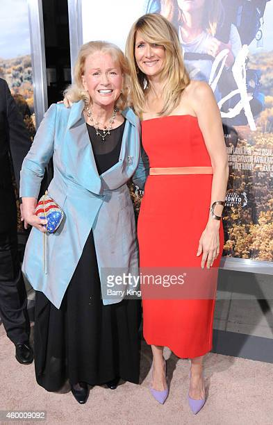 Actresses Diane Ladd and Laura Dern arrive at the Los Angeles Premiere 'Wild' at AMPAS Goldwyn Theater on November 19 2014 in Beverly Hills California
