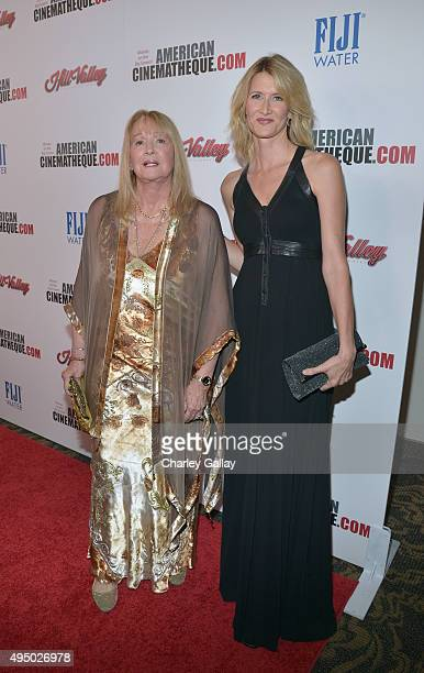 Actresses Diane Ladd and Laura Dern attend the 29th American Cinematheque Award honoring Reese Witherspoon at the Hyatt Regency Century Plaza on...