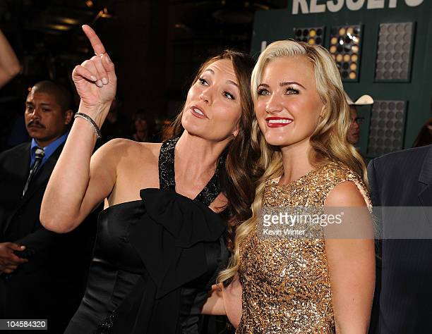 Actresses Diane Lane and Amanda Michalka attend the premiere Of Walt Disney Pictures' Secretariat at the El Capitan Theatre on September 30 2010 in...